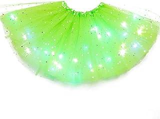 Bimba Estate Balletto Ballerina Danza Gonna tut/ù Bambina Gelato Completo Colore Verde T-Shirt Tulle Principessa Maniche Corte