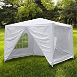 Smartxchoices Outdoor White Waterproof Gazebo Canopy Tent with Removable Sidewalls and Windows Heavy Duty Tent for Party Wedding Events Beach BBQ