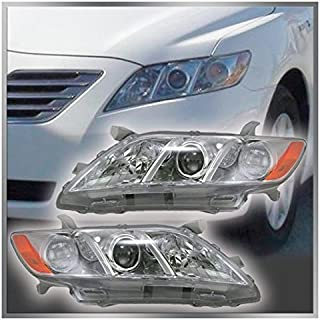 Headlights Headlamps Left & Right Pair Set for 07-09...
