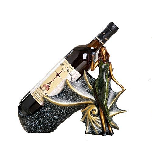 ZXD Estante del Vino, Agua y Vino Titular de la Botella, de diseño Moderno Perfecto para Colocar en la Sala, Comedor,2