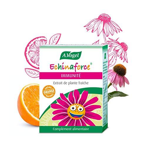 A. VOGEL - Echinaforce® Enfant Arôme Orange - Complément Alimentaire à Base d'Extrait de Plante Fraîche d'Échinacée Bio - Formulé pour Soutenir l'Immunité - 120 comprimés - Laboratoire Suisse