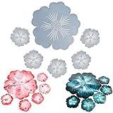 6Pcs Flower Coaster Harz Formen Kristall Achat Epoxy Casting Silikon Formen Tablett, Platte,...