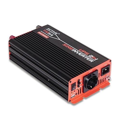 ECTIVE 500W 24V zu 230V TSI-Serie Reiner Sinus Wechselrichter mit NVS in 6 Varianten: 500W - 3000W