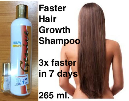 2x Genive Long Hair Fast Growth Shampoo Helps Your Hair to Lengthen Grow Longer