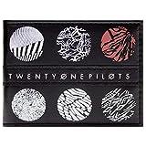 Cartera de Twenty One Pilots Símbolos Esqueleto Clique Blurryface Negro