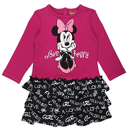 Disney Filles Minnie Mouse Robe, Rose, Taille 92, 2 Ans