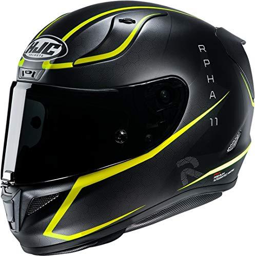 HJC Unisex-Adult RPHA11 Jarban Motorradhelm, schwarz gelb, L