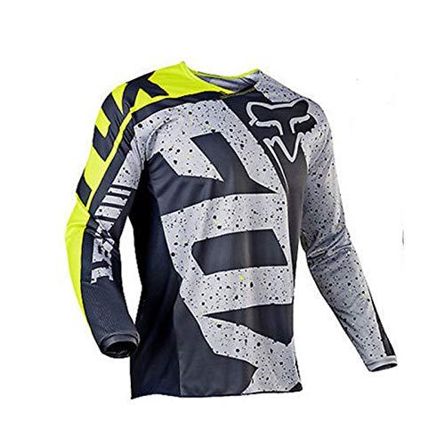 Herren Langarm Radbekleidung Radtrikot Atmungsaktiv Schnell Trocknend Radtrikot für Outdoor Motorrad Rally Gr. XXL, A - 2