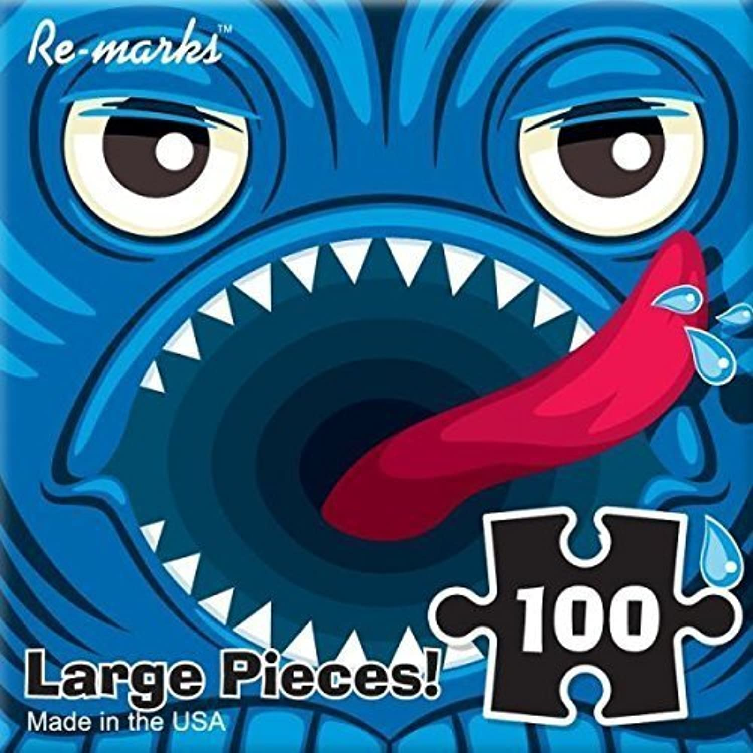Blau Monster 100 Piece Re-marks Puzzle Monster Series by Re-Marks