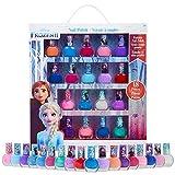 Disney Frozen Set Esmalte Uñas para Niñas, Kit de Uñas de Las Princesas Anna y Elsa, 18 Pintauñas Niñas Lavable con Agua, Regalos para Niñas 3+