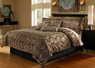 7 Piece Cal King Leopard Animal Kingdom Bedding Comforter Set