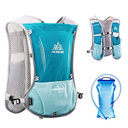 TRIWONDER Hydration Pack Backpack 5L Marathoner Running Race Hydration Vest (Light Blue - with 1.5L Water Bladder)
