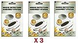 Support aimant x3 pour détecteur de fumée (3)
