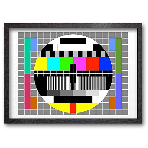 NO SIGNAL - Limitierter Kunstdruck - fertig gerahmt - Holzrahmen schwarz - 89 x 64 - A1