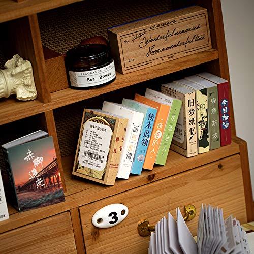 DSSJ Librería de Fin de Semana 50 Estilo Retro Material de Cuenta de Mano Japonesa Decorativo Patrón pequeño Ins Personaje Juego de Pegatinas de Cuenta de Mano