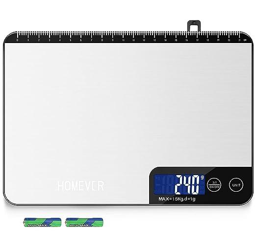 614 opinioni per Bilancia Cucina Digitale, HOMEVER 2g-15kg Bilancia Cucina con 6 Measuring Units,