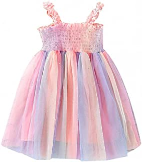 Baby Girls Tutu Dress,Toddler Infant Sleeveless Layered Princess Tulle Dress Summer Beach Wedding Party Lace Dresses