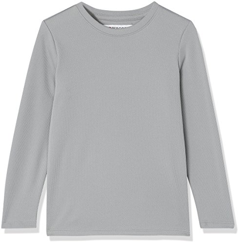Marca Amazon - RED WAGON Camisa Manga Larga Niños, Gris (Mid Grey), 110, Label:5 Years