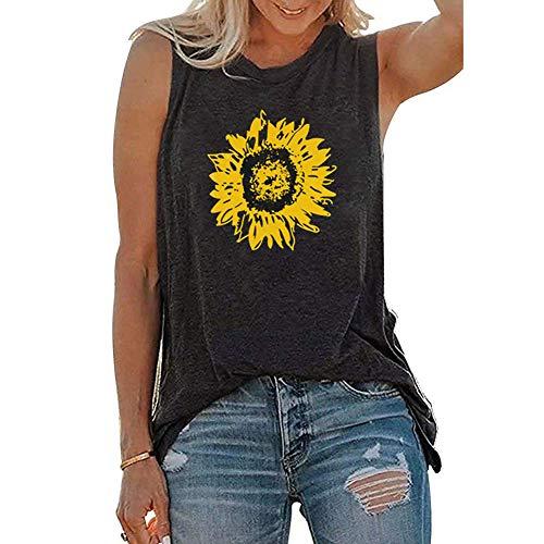 Camiseta vintage de gran tamaño para mujer, con estampado de luna y sol, para verano, informal, de manga corta, cuello redondo, túnica
