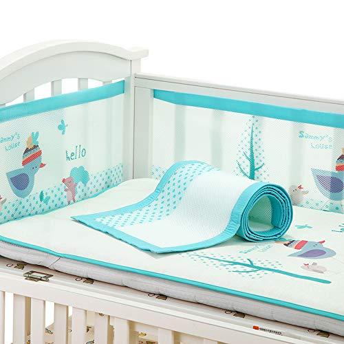 Doublure respirante pour lit de bébé | Docteur approuvé | Empêche les bébés de rester coincés dans les lattes du lit d'enfant