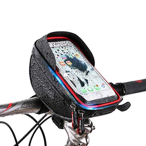 Fiets Telefoon Tas, Fiets Telefoon Mount, Zonnescherm Waterafstotende Tas Touch Screen Mobiele Mountainbike Front Beam Bag Rijden Auto Tas Stuurtas