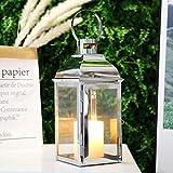 JHY DESIGN Silver Decorative Lanterns 12.5''High...