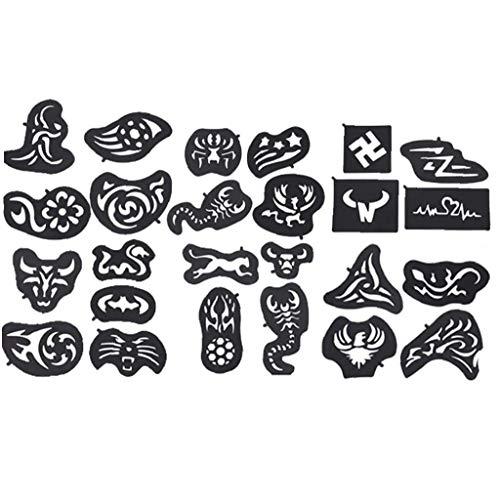 25pcs / Paquete Moldeado Del Cabello De Moldeo De Pelo Tatuaje Temporal De La Plantilla Profesional Del Corte De Pelo Material Colorante Del Pelo Shaping Tool Peluquero Peluquería Maquillaje Y Cuidado