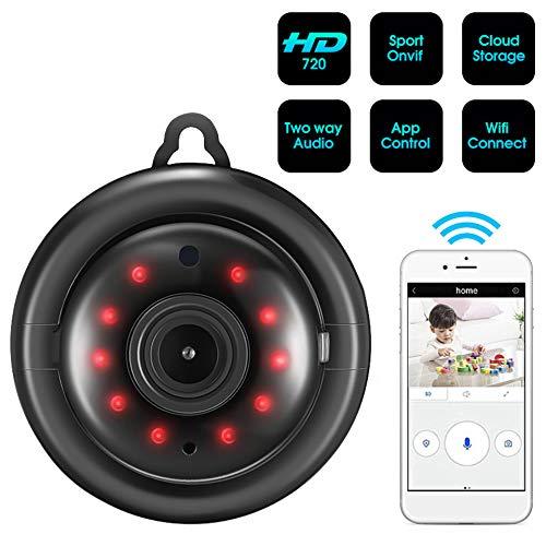1MP Mini Verborgen Spy Camcorders WIFI IP Camera Draadloos Klein Infrarood Nachtzicht Bewegingsdetectie Audio Video Gratis APP