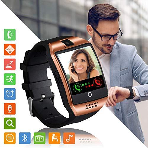 Tipmant Reloj Inteligente Mujer Hombre Smartwatch Pantalla táctil con Ranura para Tarjeta SIM Cámara Podómetro Moviles Baratos y Buenos Pulsera de Actividad para Android Xiaomi Samsung Huawei…