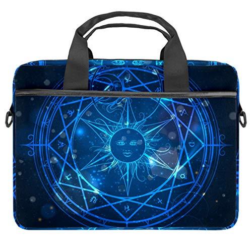 Alchemy Magic Circle On Shining Blue Notebook Sleeve con asa de 13.5-14.5 pulgadas de transporte de hombro maletín