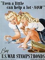 WAR PROPAGANDA スタンプアメリカ広告ポスター 12x16平行輸入