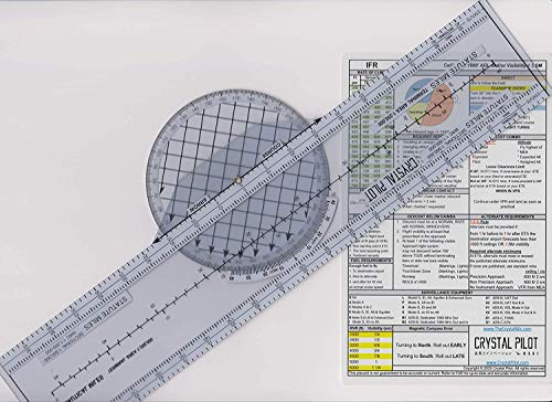Crystal Pilot VFR e IFR Placard (medio con trazador rotativo)