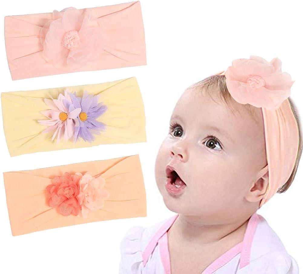 Baby Girl Floral Flower Headbands for Baby Girls Newborn Infant Toddler Elastic Headband Hair Bands Headwrap Hair Accessories