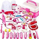 BUYGER Kit de Doctora Maletin Medicos Juguete para Niños Niñas 3 4 5 Años, Juego Enfermera y Dentista, Regalo Educativos