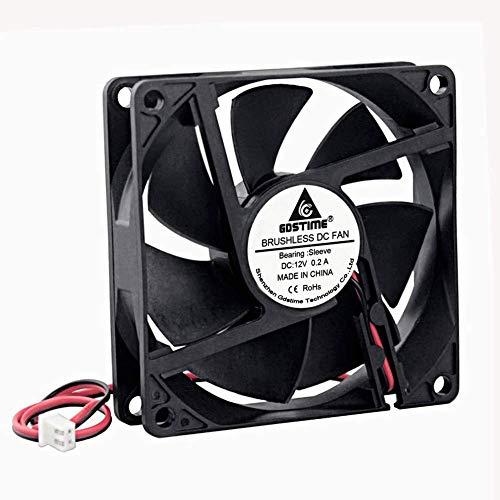 GDSTIME 80mm x 20mm 8020 12V Dc Brushless Cooling Fan Sleeve Bearing 2Pin