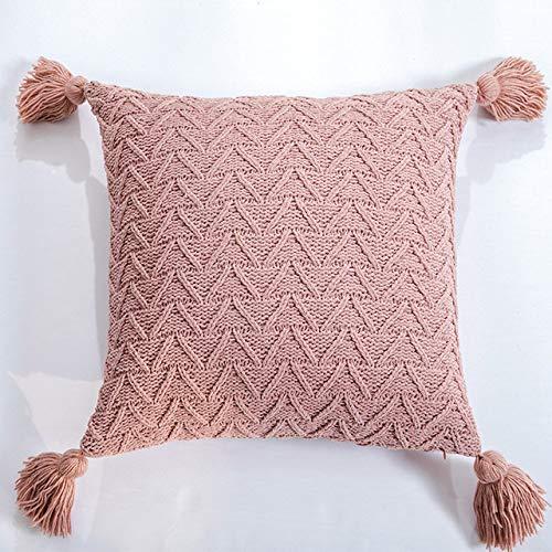 SDCVRE Funda de Almohada Funda de cojín Funda de Almohada de Punto Suave para sofá Cama Funda de Almohada Decorativa para el hogar Simple, 9,450 mm * 450 mm