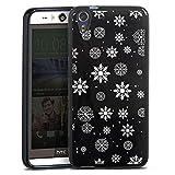 Silikon Hülle kompatibel mit HTC Desire Eye Case Schutzhülle Schnee Schneeflocken Weihnachten