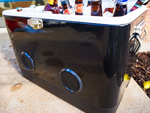 Biking Waterproof Portable Cooler with Fliplock Magnetic Latch and Universal Mount tailgaiting Perfect for The Beach Insulated Coolest Coolers 30 Can, Blue Camping Boating Coolest Vibe Premium Soft-Sided