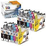 Starink 10 Pack Kompatibel für Brother LC223BK LC223C LC223M LC223Y Tintenpatronen für Brother MFC J5320DW J5620DW J5625DW J5720DW J480DW J680DW J880DW J4420DW J4620DW J4625DW DCP J562DW 4120DW