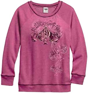Women's Spade Pullover Sleep Sweatshirt, Red Violet 97763-17VW