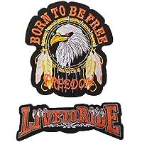(LOLO import) 大型 鷲 ワッペン 27.5x30.5cm ワシ わし アイロン 刺繍