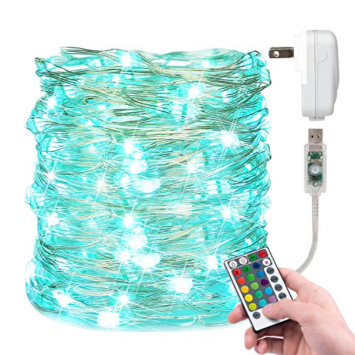 Christmas Fairy Light 33 Feet 100 Led Color Changing String Lights with Remote for Bedroom Wedding Holiday Decoration 16 Colors Dedicated Plug Included