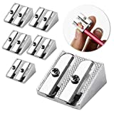 Mr. Pen Handheld Metal Pencil Sharpener with 2 Holes, Pack of 6