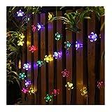 guirnalda luces exterior solar Panpany luces decorativas exterior 22 pies...