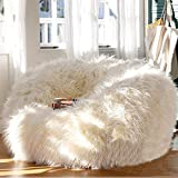 FidgetGear Bean Bag Lounger Cover for Home Living Room Soft Cozy Sofa Chair Seat Furniture Without Filler