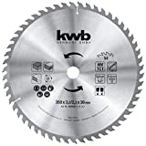 kwb 593559 - Lama per sega circolare da tavolo, 350 x 30 mm, denti alternati per taglio medio, Z-54 denti