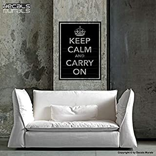 CLIFFBENNETT Keep Calm and Carry On Wall Decals Quotes - Quote Lettering by Decals Murals (22x28)
