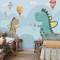カスタム3D写真壁紙幼稚園手描き恐竜赤ちゃん子供部屋男の子女の子寝室漫画の装飾壁画壁紙, 250cm×175cm