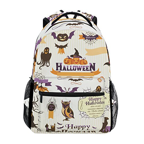 COOSUN Halloween Tags Casual Backpack School Bag Travel Daypack