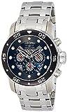 Invicta Men's 'Pro Diver' Quartz Stainless Steel Diving Watch, Color:Silver-Toned (Model: 25331)